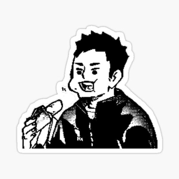 Haikyuu!! Daichi eating a banana :) Sticker