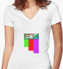 Artistic EDM Women's Fitted V-Neck T-Shirt