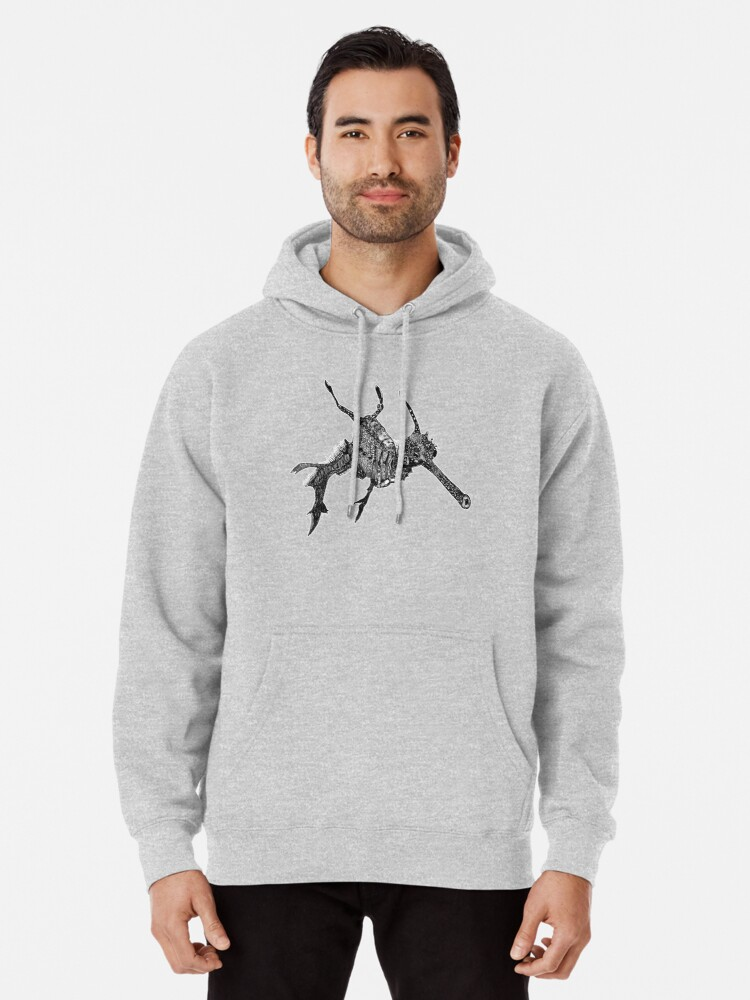 Alternate view of Wednesday the Weedy Sea Dragon Pullover Hoodie