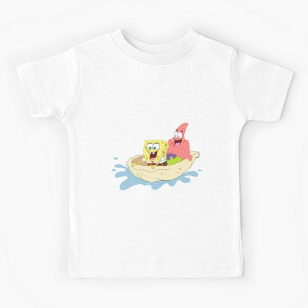 Spongebob and Patrick Riding a Shell Kids T-Shirt