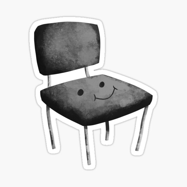 Seat Face Grey Glossy Sticker