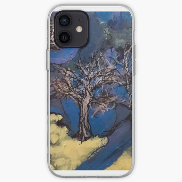 Acrylic Painting on Wood by Chicago Artist Gary Bradley iPhone Soft Case