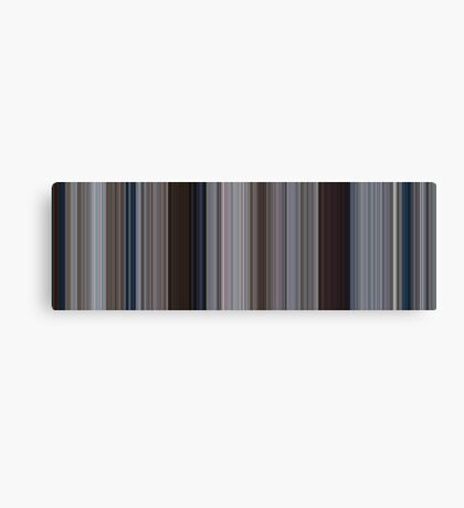 Moviebarcode: Jaws (1975) [Simplified Colors] Canvas Print
