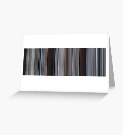 Moviebarcode: Jaws (1975) [Simplified Colors] Greeting Card