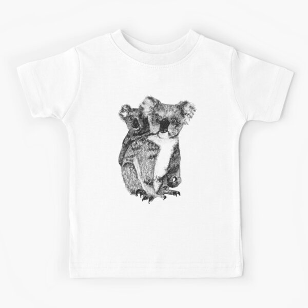 Mumma Lee Koala and Baby Fraser  Kids T-Shirt