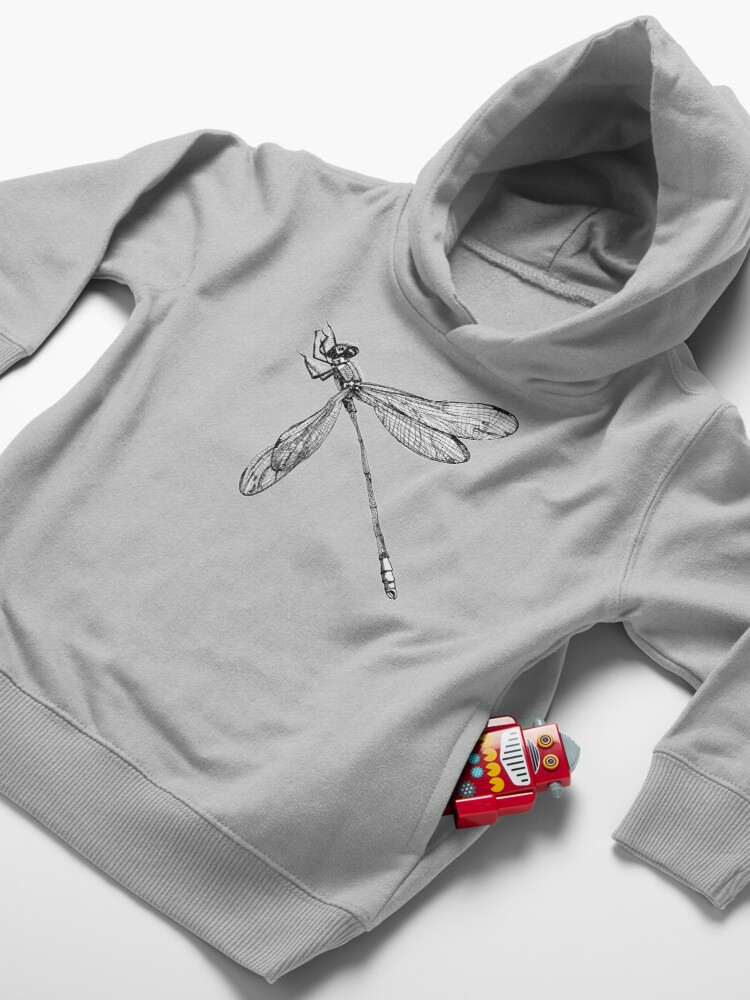 Alternate view of Lynette the Dragonfly  Toddler Pullover Hoodie