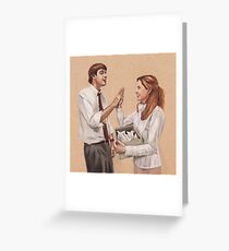 Paper Doves Greeting Card