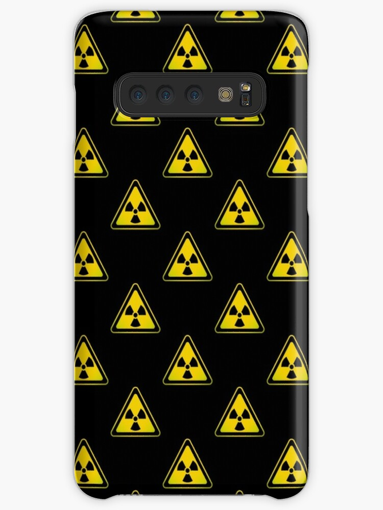 'Radioactive Symbol Warning Sign - Radioactivity - Radiation - Yellow &  Black - Triangular - Tiled' Case/Skin for Samsung Galaxy by graphix