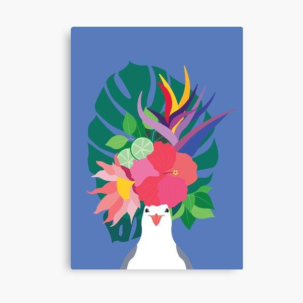 Tropical Seagull Canvas Print