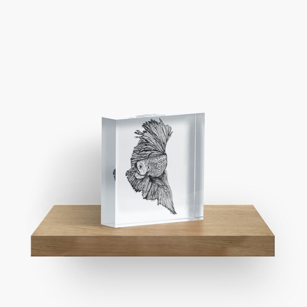 Gloria the Fighting Fish Acrylic Block