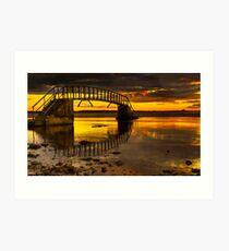 Belhaven Sunset Art Print