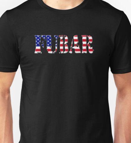 FUBAR - USA flag, white outline T-Shirt