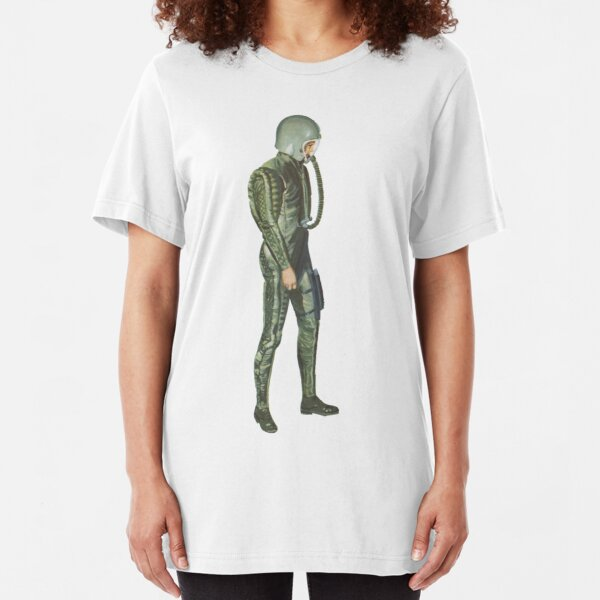 vintage astronaught Slim Fit T-Shirt