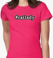Cat Lady - Hashtag - Black & White T-Shirt