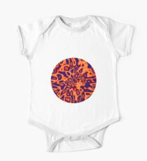 OrangeRed MidnightBlue   Abstract random colors #14 Short Sleeve Baby One-Piece