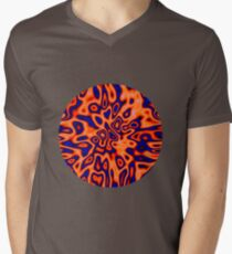 OrangeRed MidnightBlue | Abstract random colors #14 V-Neck T-Shirt