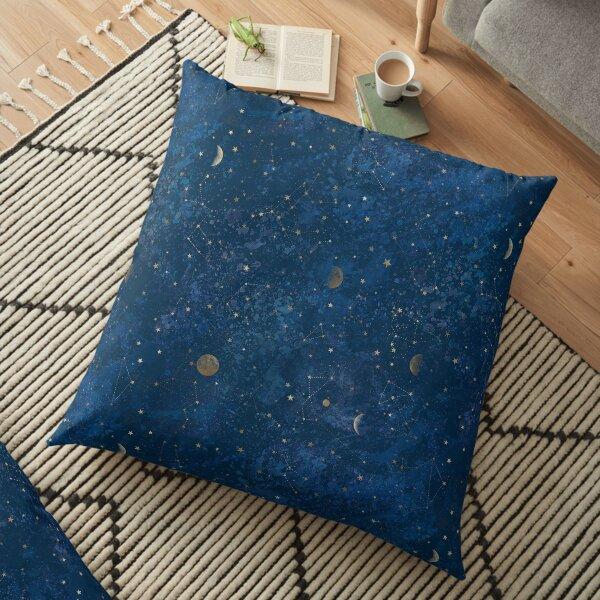 Lune et étoiles Coussin de sol