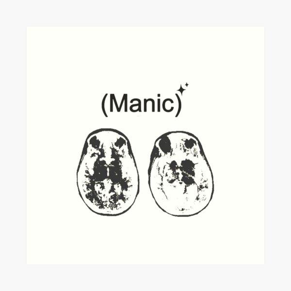 Manic Brain Art Art Print