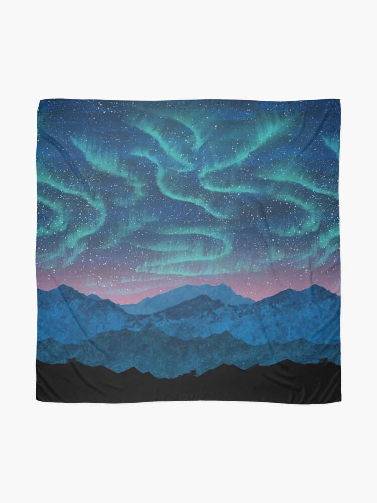 Alternate view of Aurora borealis over mountains Scarf