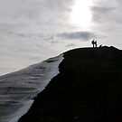 Hikers in silhouette by Algot Kristoffer Peterson