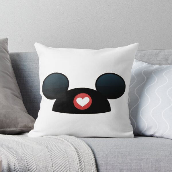 mickey ears Throw Pillow