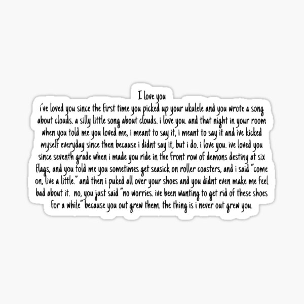 Ricky's I love you speech Sticker
