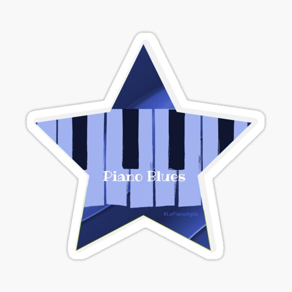 Piano Blues rising star Sticker