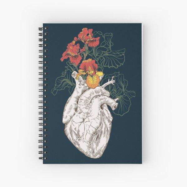 dessin coeur humain avec des fleurs Cahier à spirale
