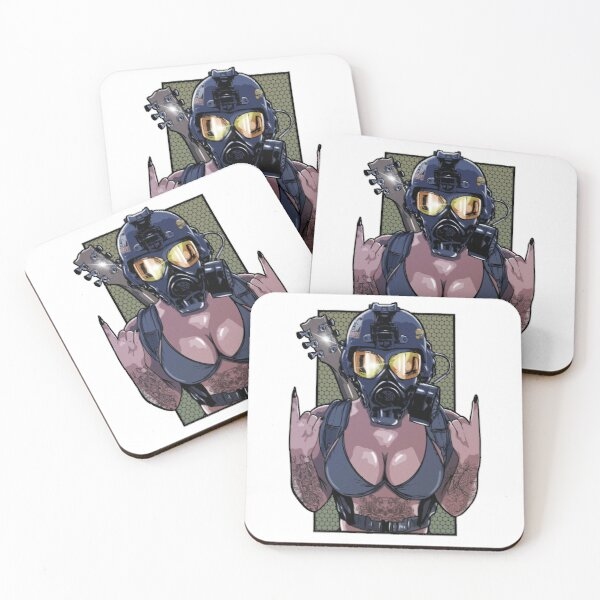 BombRock Chick Coasters (Set of 4)