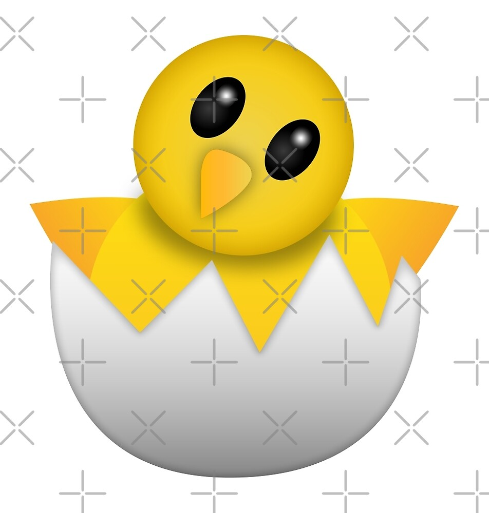 """Hatching baby chick Emoji"" by DCornel 