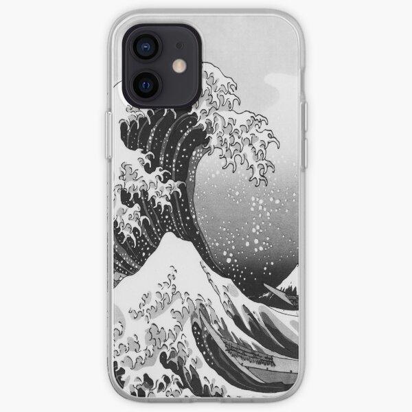 Gran ola: monocromo Funda blanda para iPhone