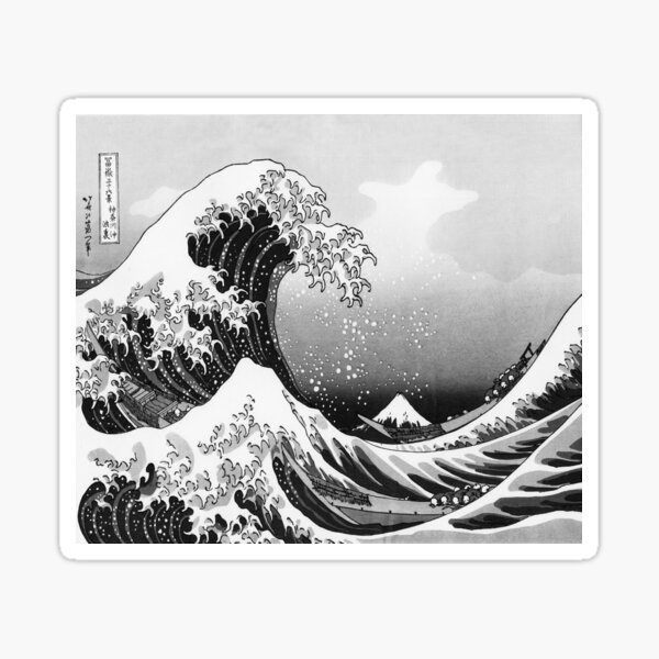 Great Wave: Monochrome Sticker