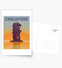 Singapore vintage poster Postcards