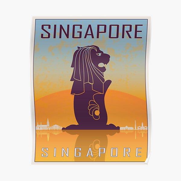 Singapore vintage poster Poster