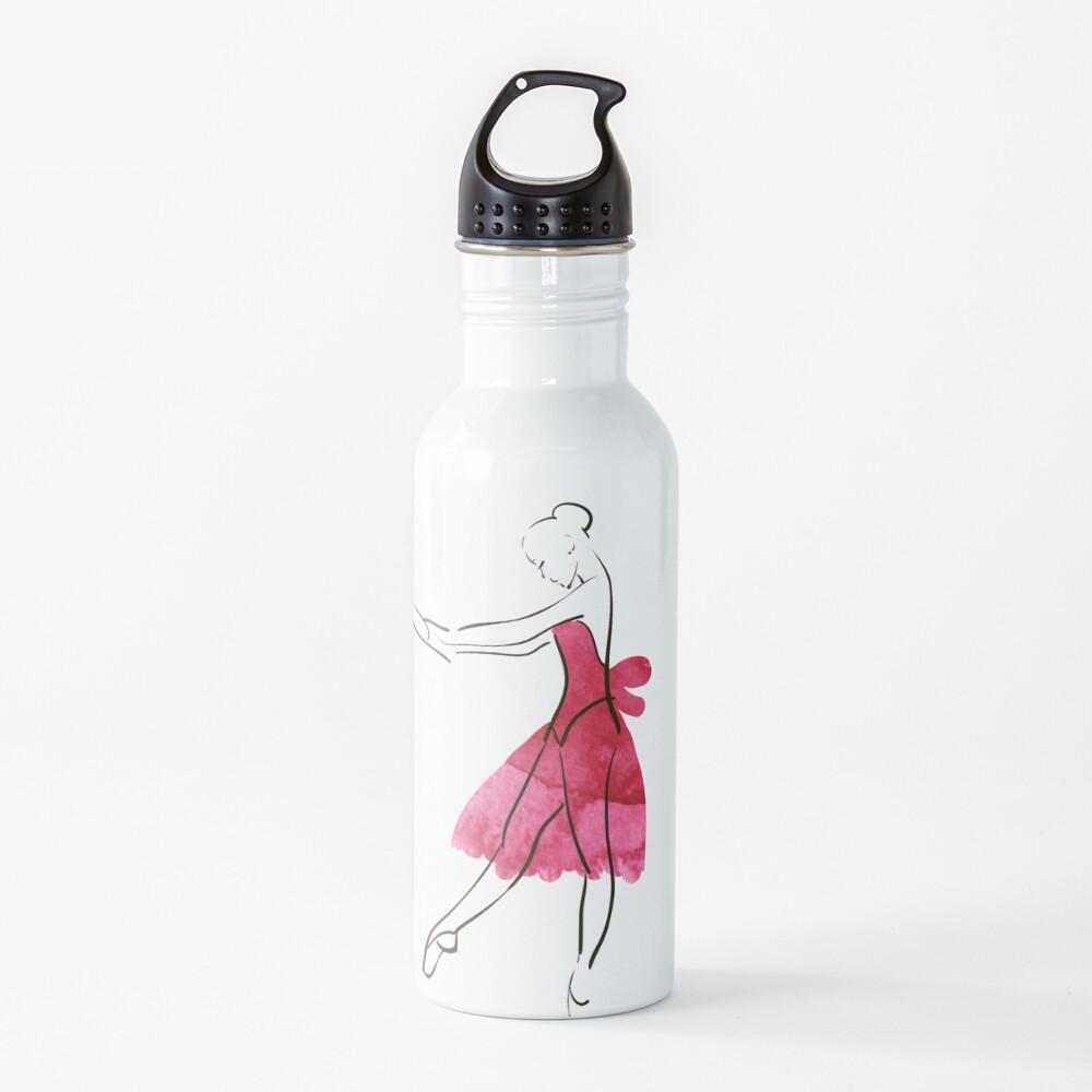 Vector hand drawing ballerina figure, watercolor illustration Water Bottle