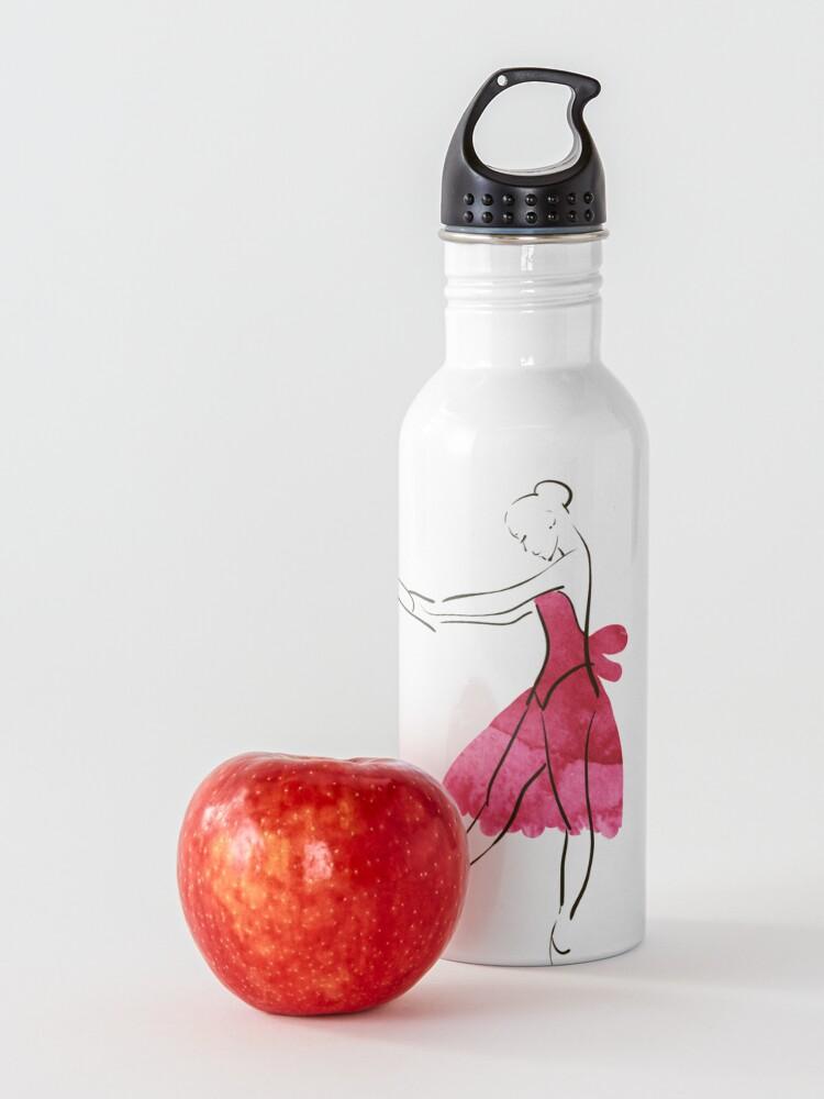 Alternate view of Vector hand drawing ballerina figure, watercolor illustration Water Bottle