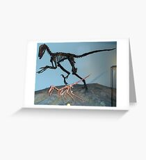 Pretty Deinonychus Greeting Card
