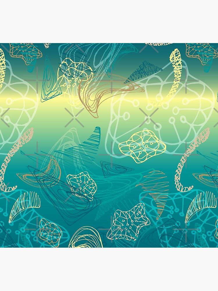 abstract deep see underwater pattern design by nobelbunt