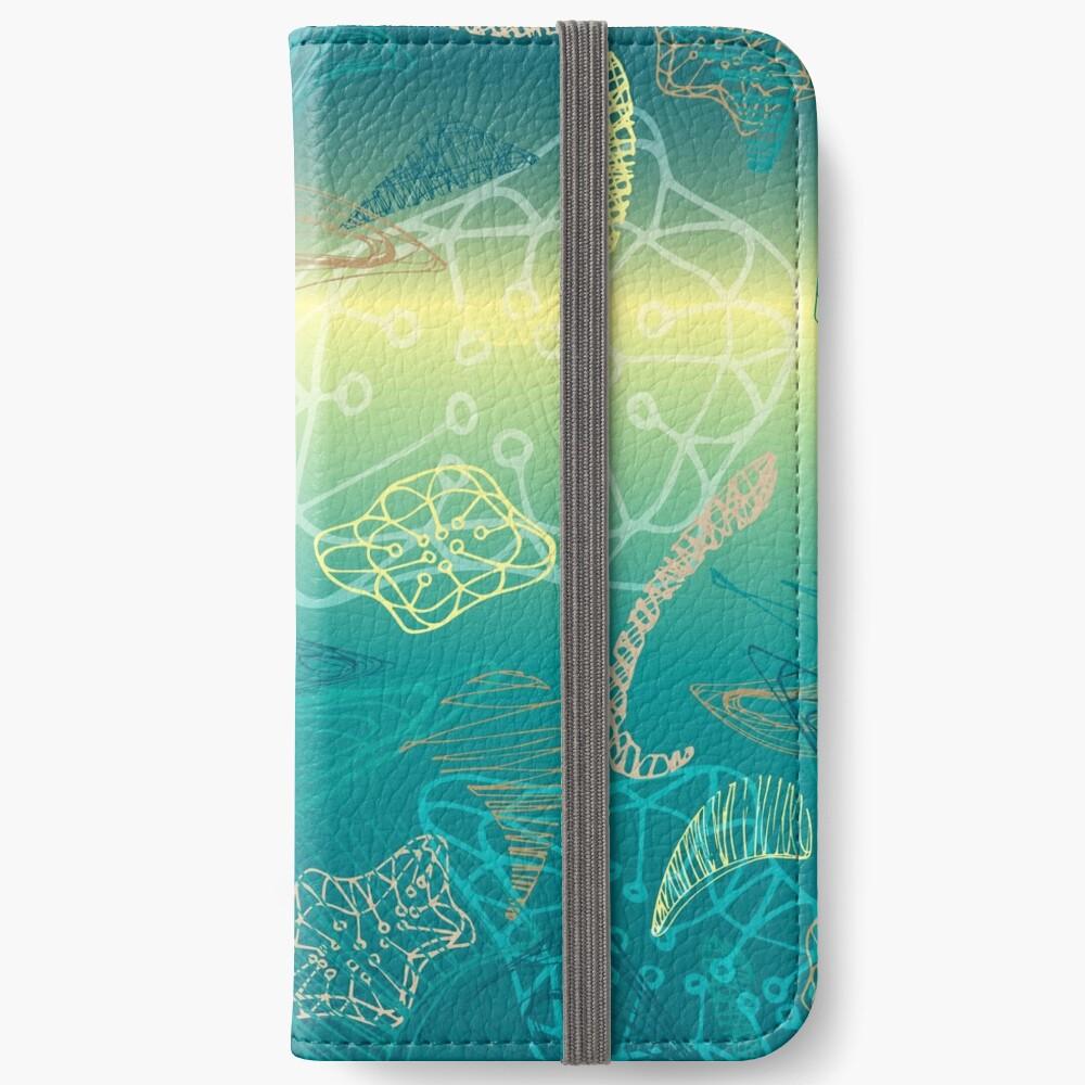 abstract deep see underwater pattern design iPhone Wallet