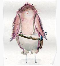 Capt. Macaw Reynolds- Firefly Nerdy Birdy Poster