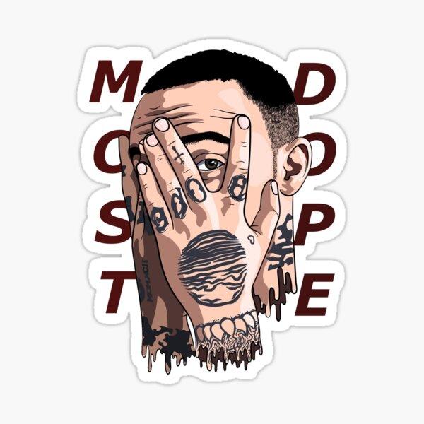 MOST DOPE MAC MILLER FACE Sticker