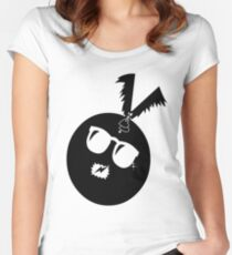 unique funny bat's hijacking graphic art Women's Fitted Scoop T-Shirt