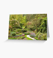 The Butchart Gardens Greeting Card