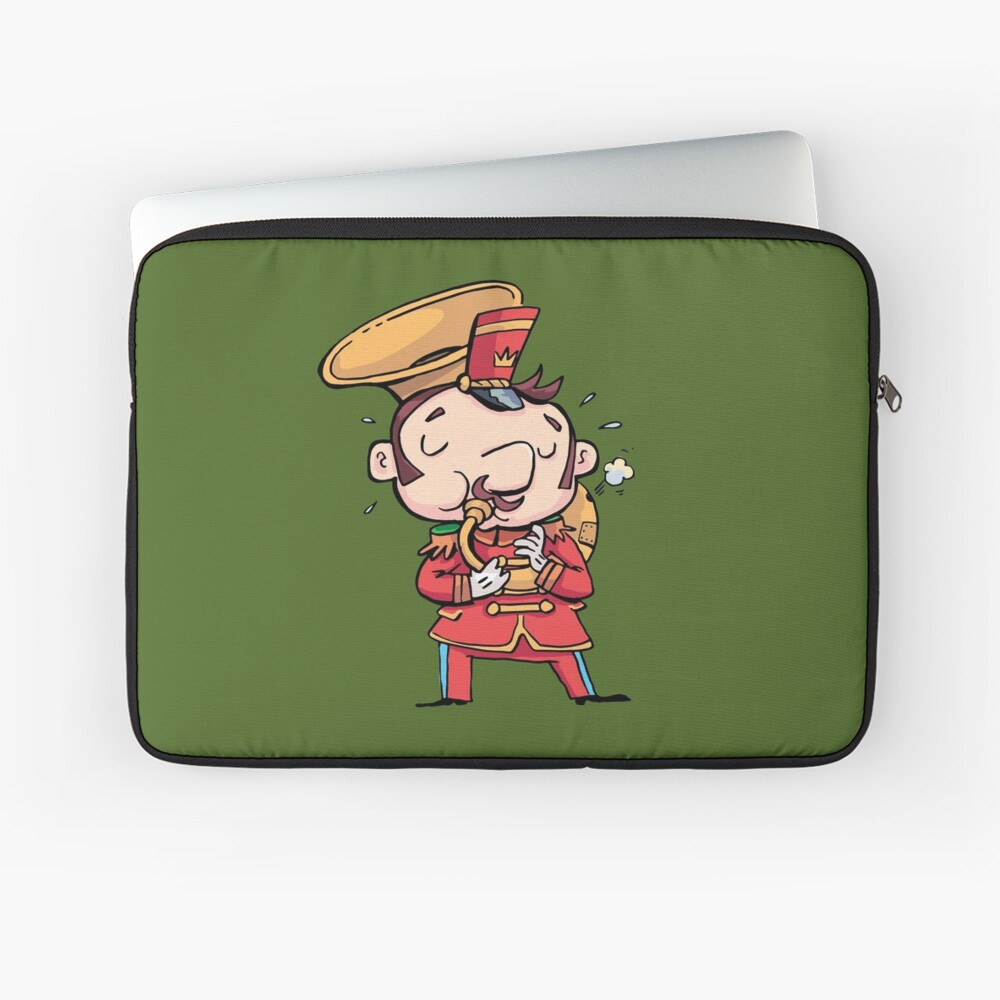 military musician playing a trombone Laptop Sleeve