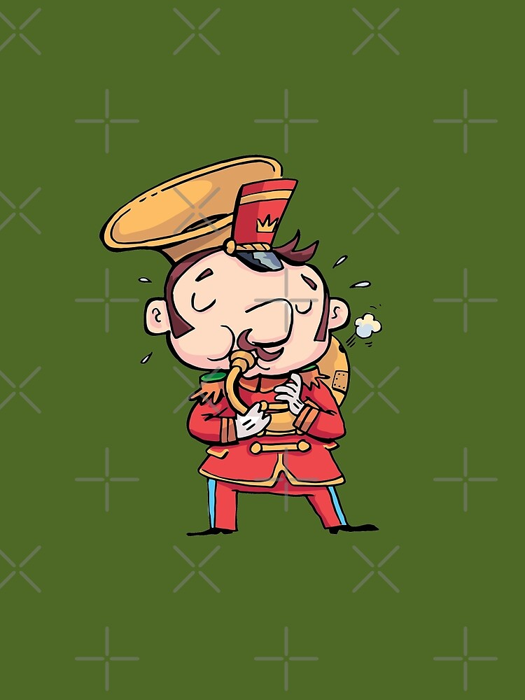 military musician playing a trombone by duxpavlic