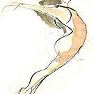 Original Dance Jump Drawing  by CatarinaGarcia