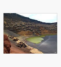 Green Crater lake Photographic Print