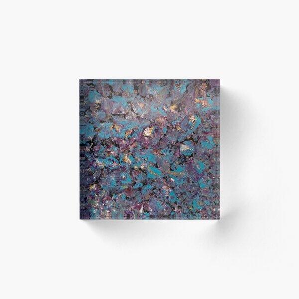 Flowery  Acrylic Block