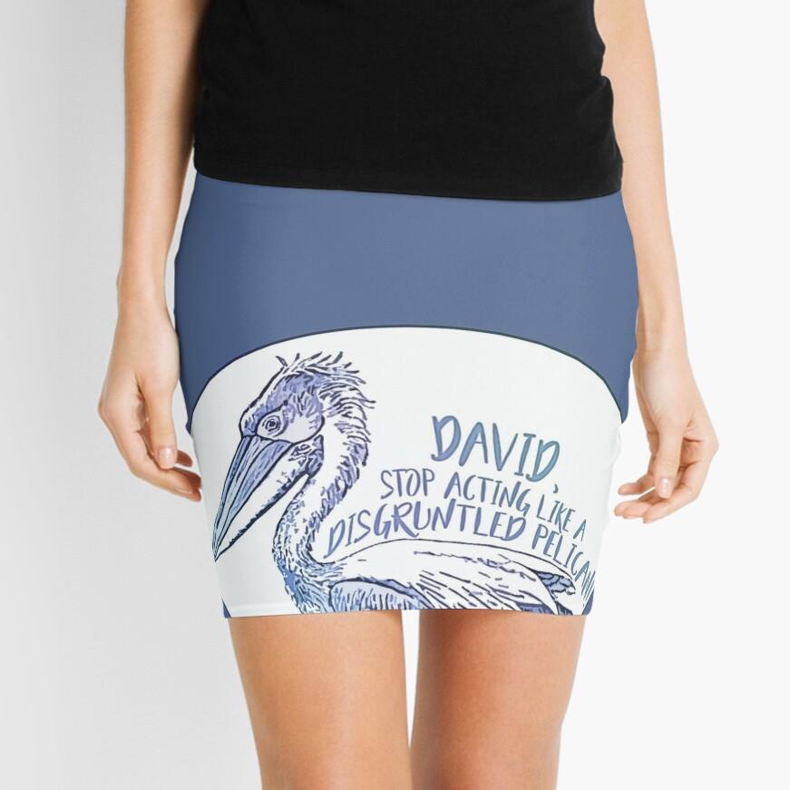 Schitt's Creek Disgruntled Pelican Mini Skirt