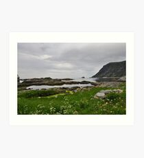 Cloudy day at Grotle Art Print